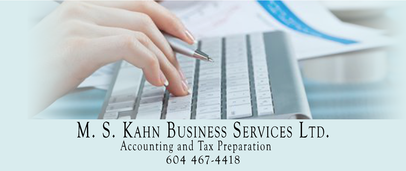 M.S.Kahn Business Services - accounting, bookkeeping and taxes for Maple Ridge and Pitt Meadows